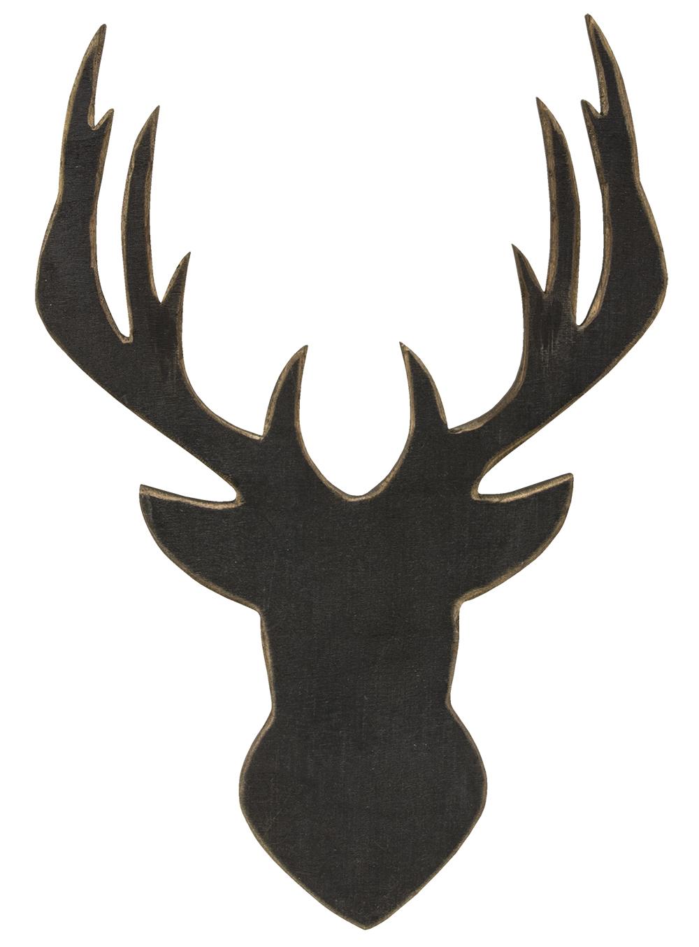 1000x1354 Deer Head Silhouette