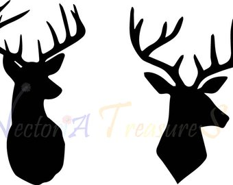 340x270 Deer Head Cricut Etsy