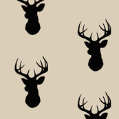 173x173 Deer Silhouette Fabric, Wallpaper Amp Gift Wrap