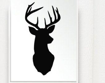 340x270 Deer Head Print Silhouette