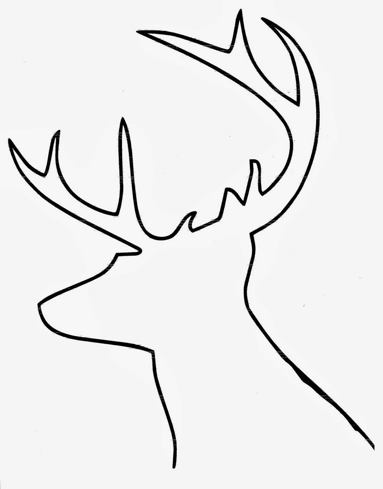 Deer Head Silhouette Outline