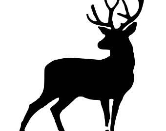 340x270 Deer Stencil Etsy