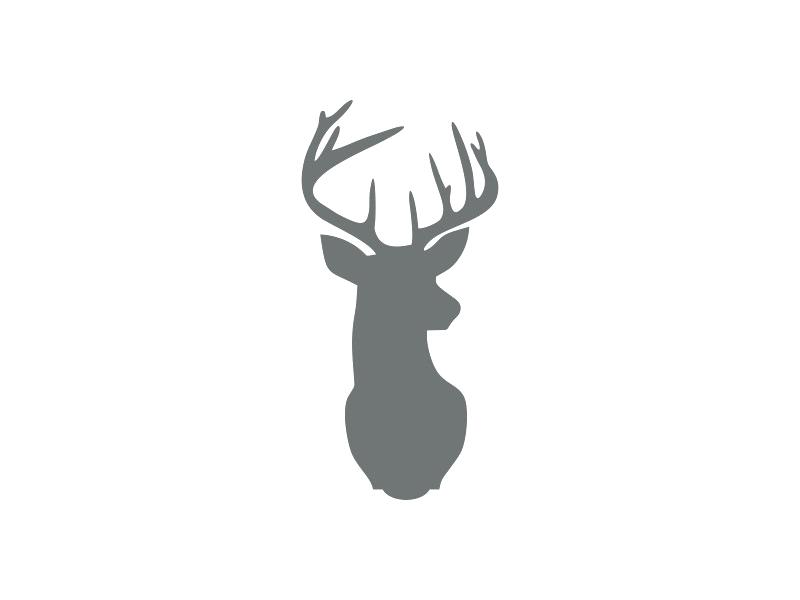 image regarding Printable Deer Antlers identified as Deer Intellect Silhouette Printable at  Totally free for