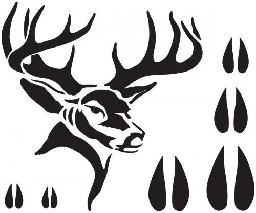 500x417 Deer Bucks Stencils Deer Stencil 7x9 Centerpieces