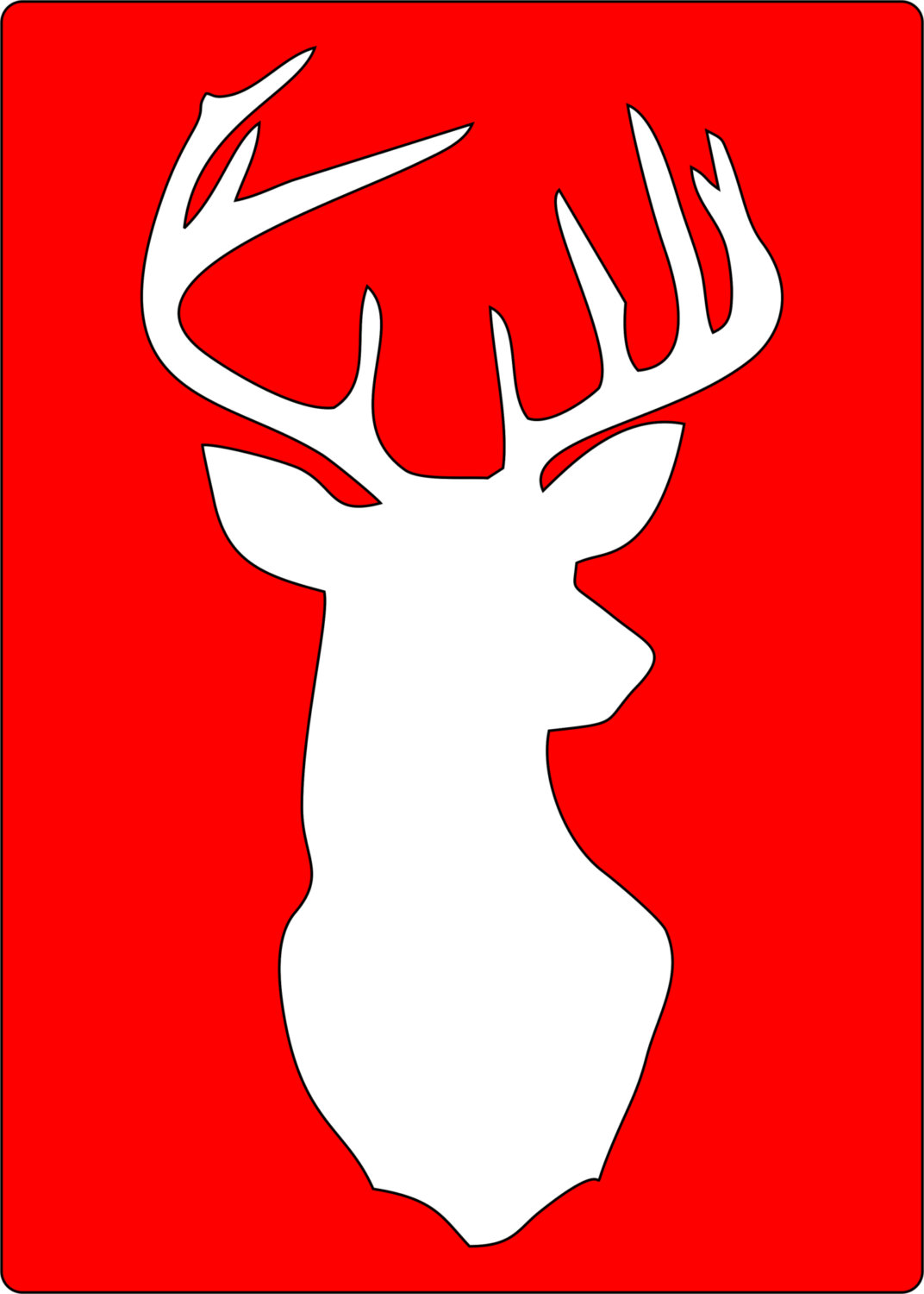 Deer Head Silhouette Template