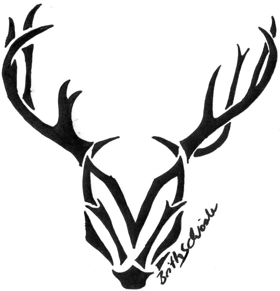 900x936 Mum And Baby Deer Silhouette Stencil