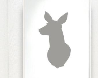 340x270 Deer Head Outline Clipart