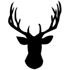 236x236 Diy Gold Foil Deer Head Silhouette Deer Head Stencil, Stenciling