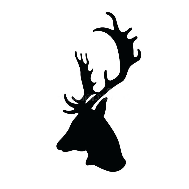 Deer Head Silhouette Vector