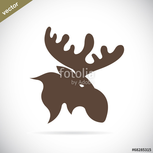 500x500 Vector Images Of Moose Deer Head Stock Image And Royalty Free