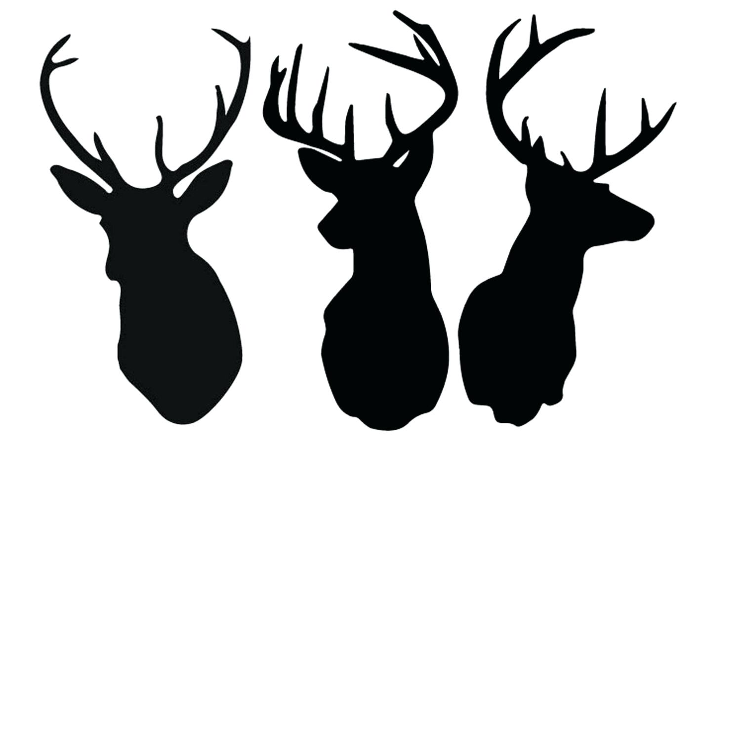 1500x1500 Template Deer Head Template Rein And Horns Logo Design Stock