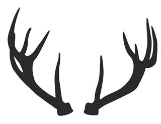 320x247 Deer Antlers Silhouette Decal Sticker
