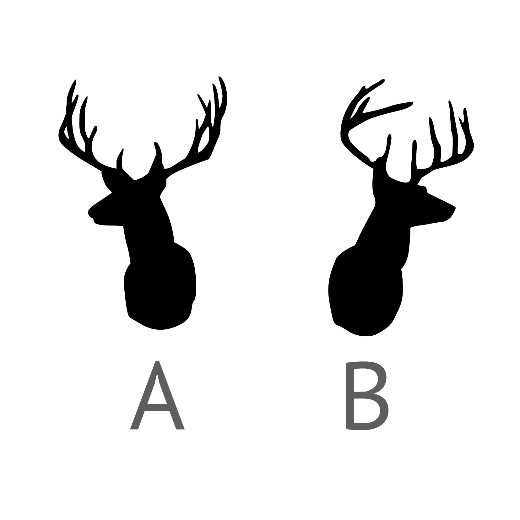 1656x1656 Deer Antler Head Silhouette Clipart Svg Free