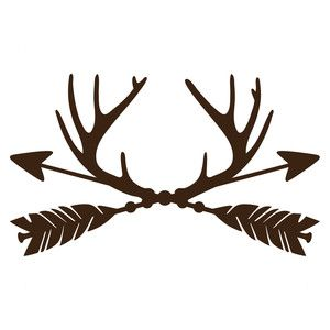 300x300 Trophy Antler Arrows Silhouette Design, Antlers And Arrow