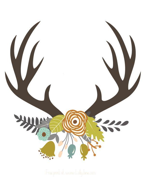 600x750 Wildlife Clipart Deer Horn