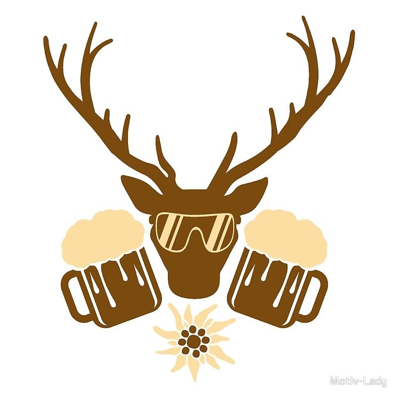800x800 Beer Booze Party Fest Jug Edelweiss Dj Music Deer Antlers Horns