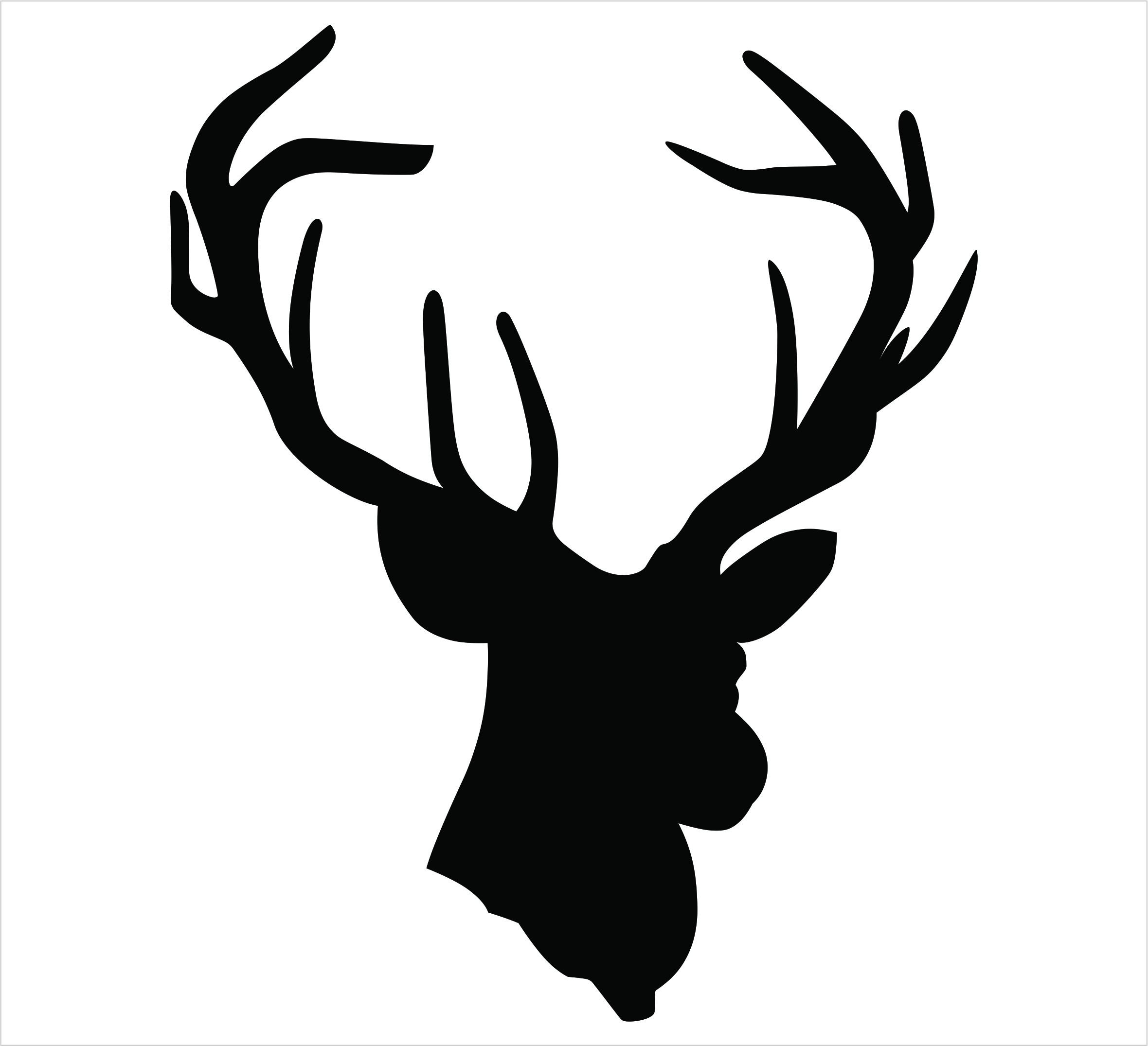 2360x2151 Black Silhouette Of Deer Antlers Stock Vector Art 827623316 Istock