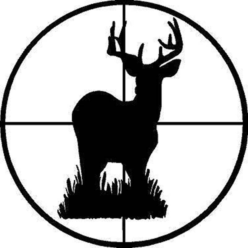 800x800 Hunt Sticker Name Hunting Shoot Buck Deer Decal Hunter Shop