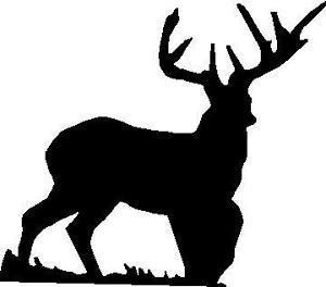 300x264 Hunting Silhouette Full Body Buck Deer Decal 5 X 4.5 Ebay