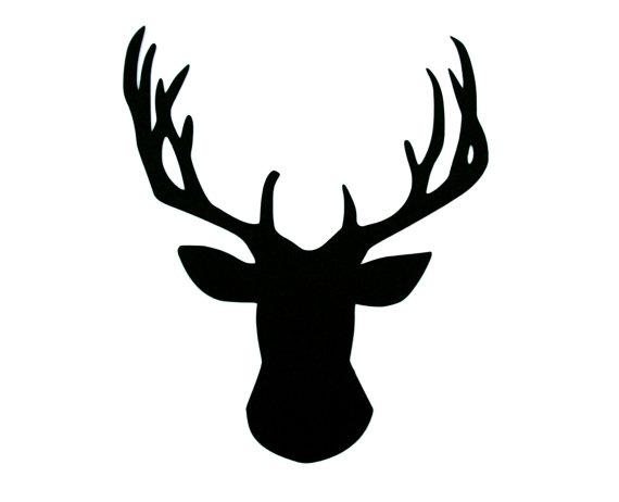 570x462 5 Pcs Any Color 5 Paper Deer Die Cut, Deer Silhouette, Deer Head