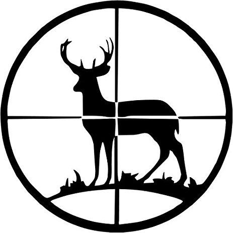 463x463 Sportsman Deer Hunting Sniper Target Vinyl Decal