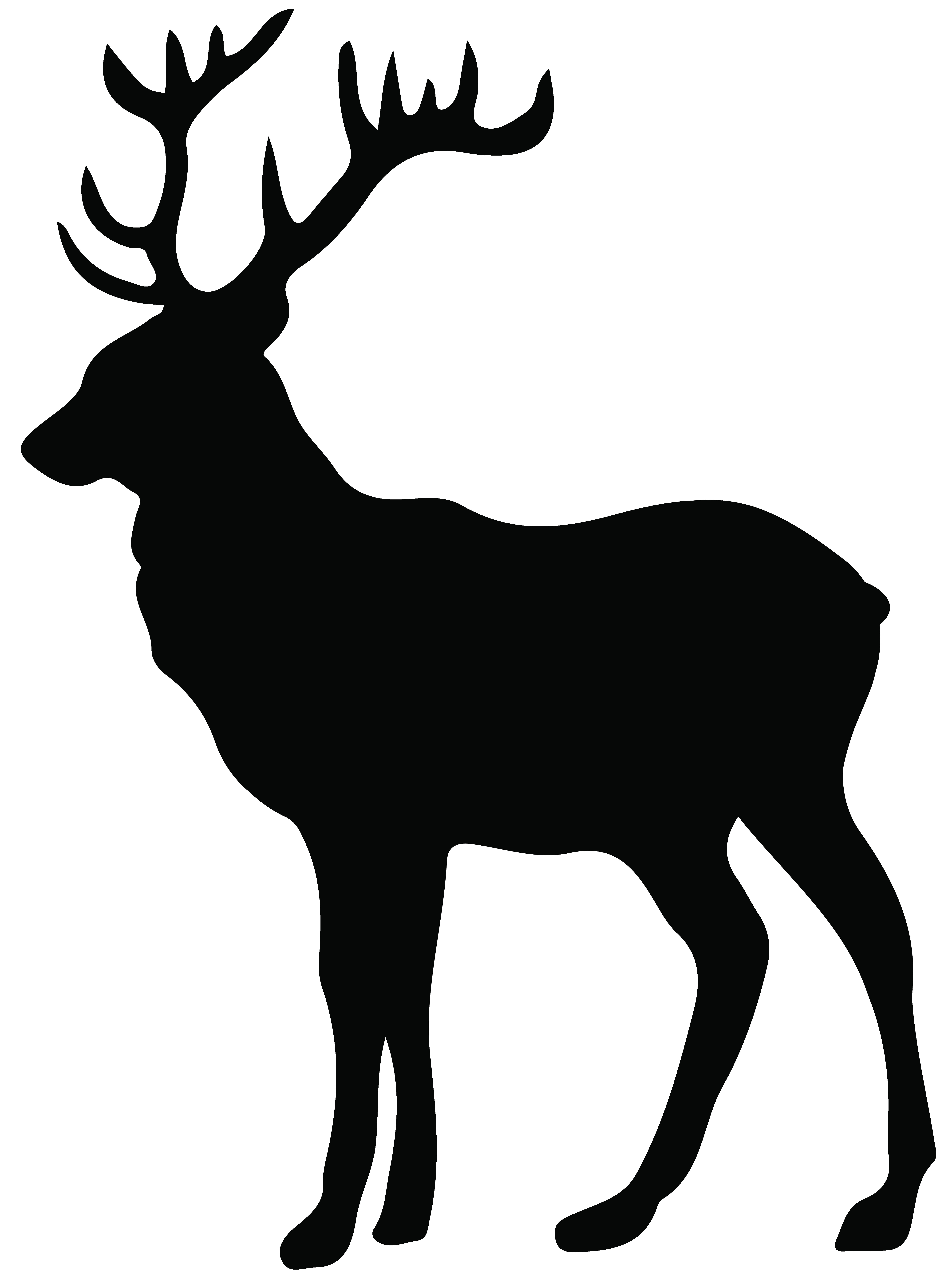 5953x8000 Stag Silhouette Png Transparent Clip Art Image Gallery Unusual