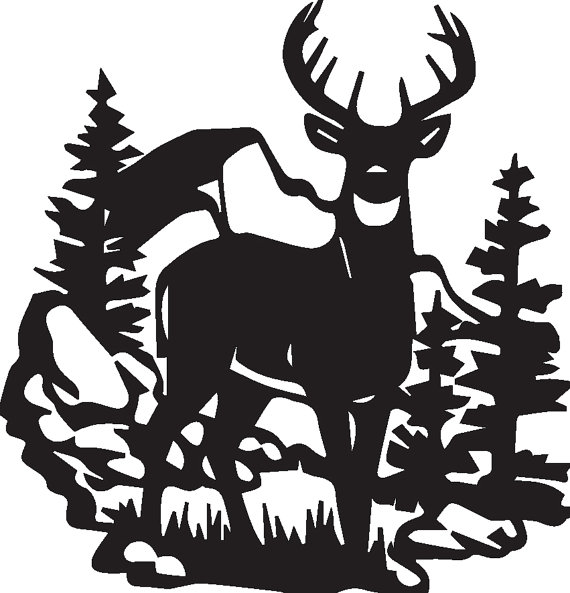 570x593 Deer Jumping Fence Svg