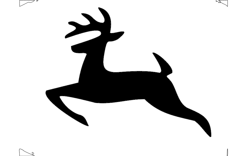 1002x633 Deer Jumping Dxf File Free Download
