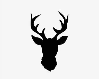 340x270 Deer Head Vector Etsy