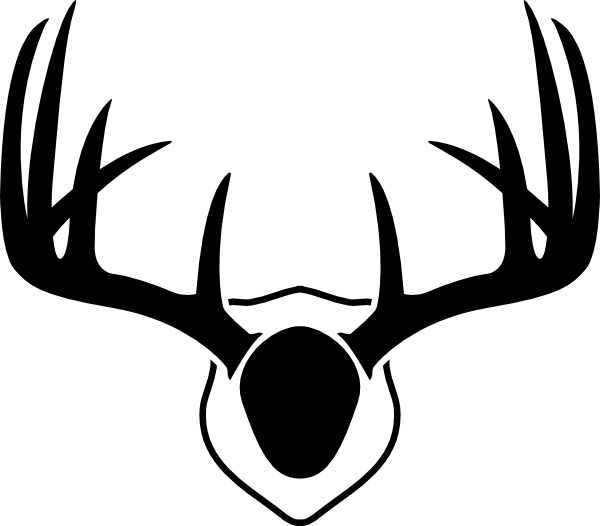 600x526 Mounted Deer Antlers Clip Art