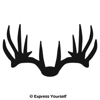 400x400 Nice Rack 6 Deer Hunting Decals