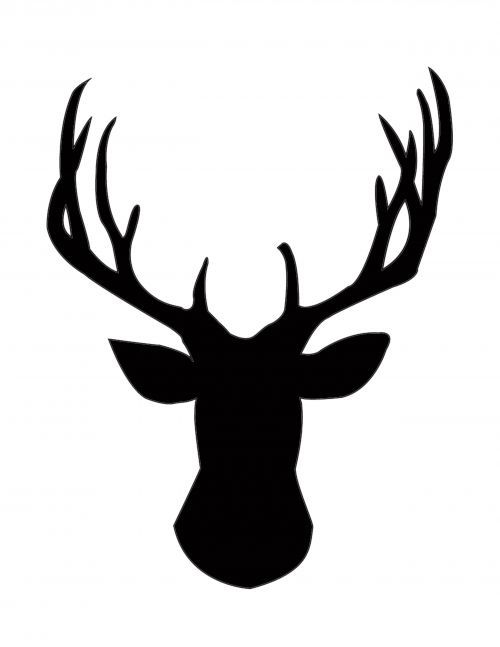 500x647 Diy Gold Foil Deer Head Silhouette Deer Head Silhouette