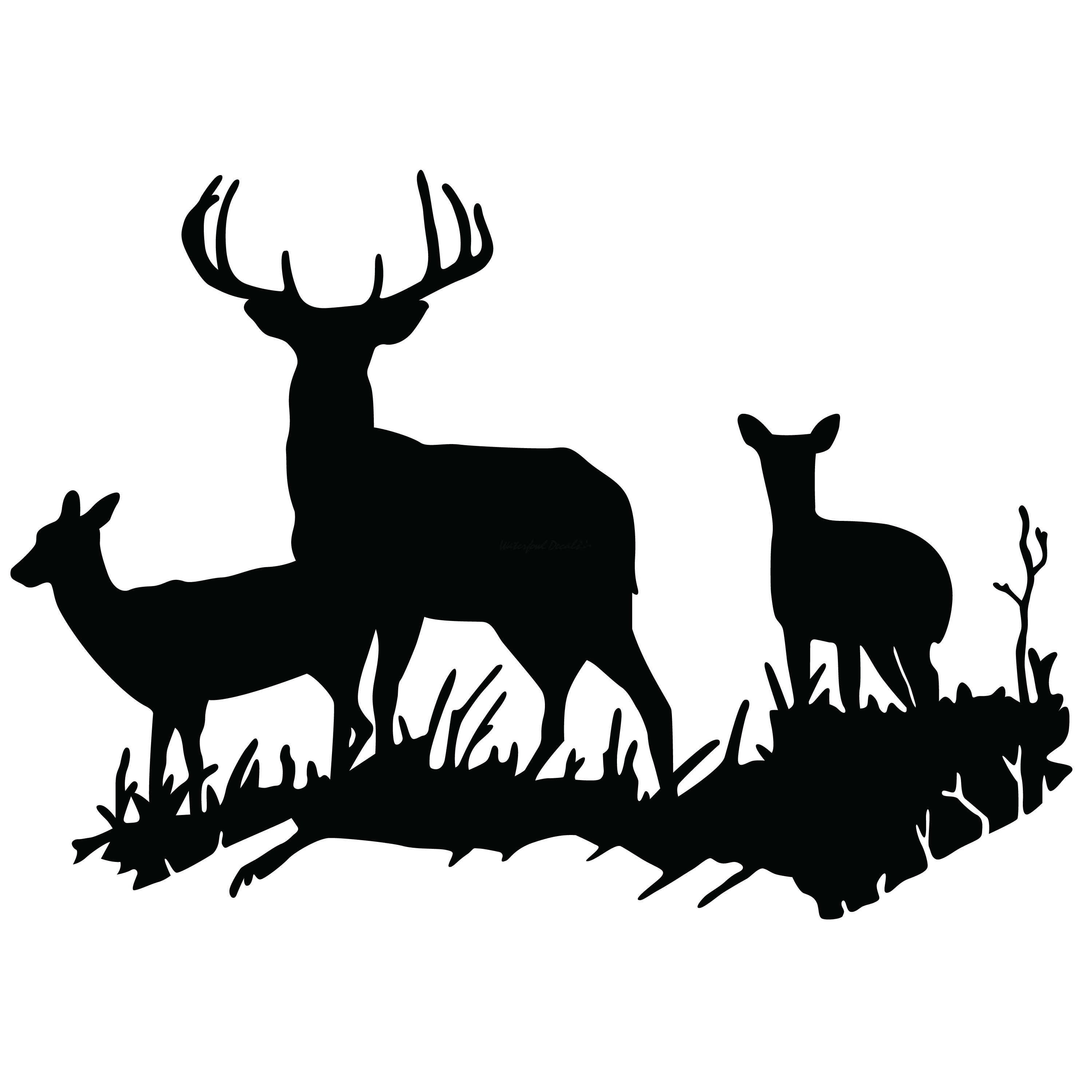 3000x3000 1210 Buck And Does Scene Decal