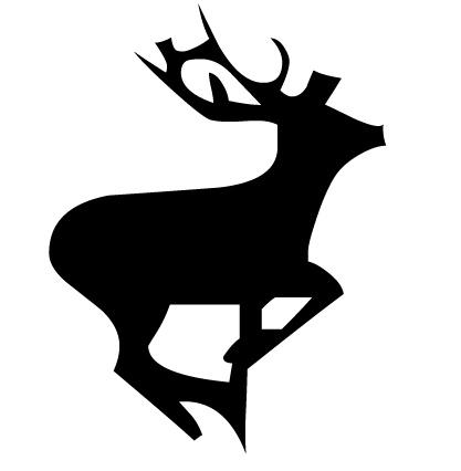 417x426 Running Deer Silhouette