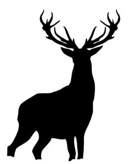 260x330 Deer Silhouette 3 Decal Sticker