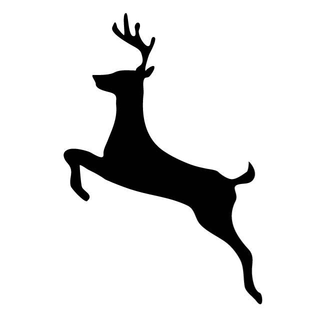 660x660 Wild Deer Silhouette