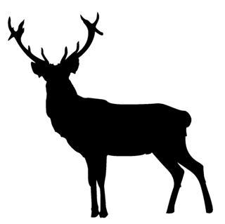 320x319 Deer Silhouette 2 Decal Sticker