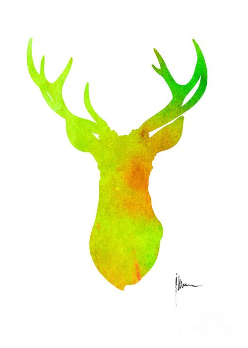 500x700 Watercolor Deer Art Fine Art America