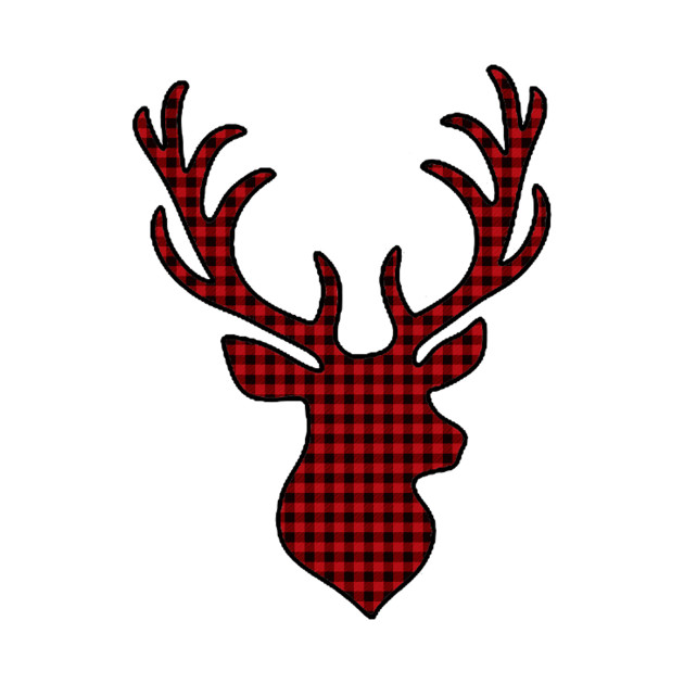 630x630 Plaid Deer Silhouette