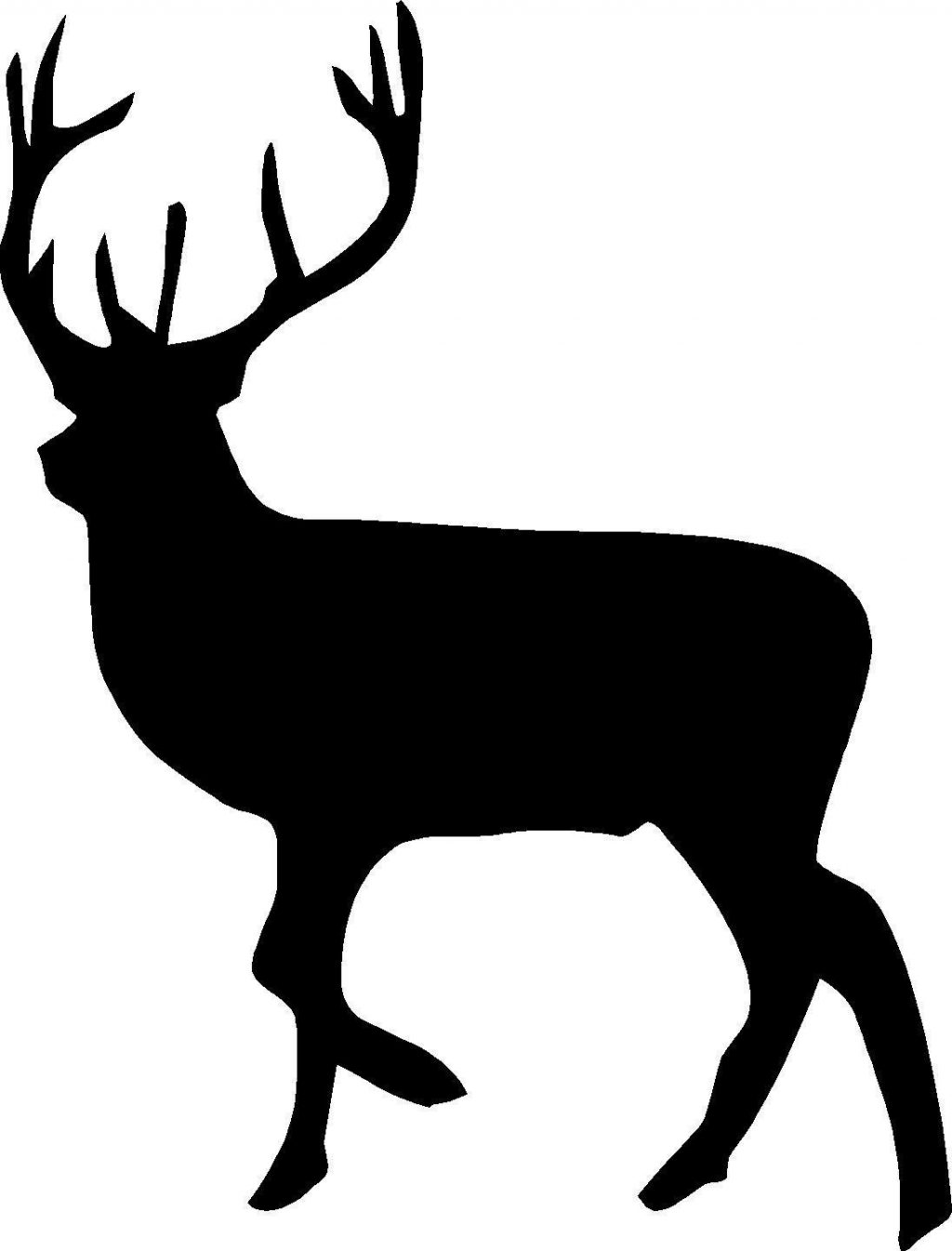 deer silhouette free at getdrawings com free for personal use deer rh getdrawings com deer clip art printable deer clip art free