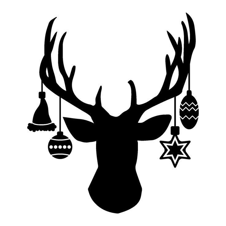 736x736 Deer Head Silhouette Clipart