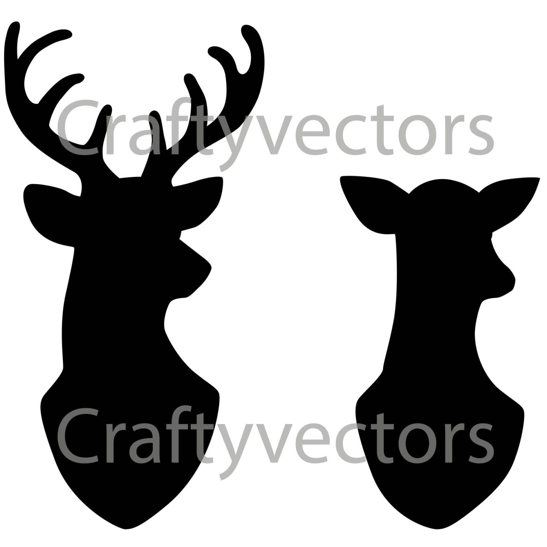 1500x1500 Simple Deer Head Silhouette