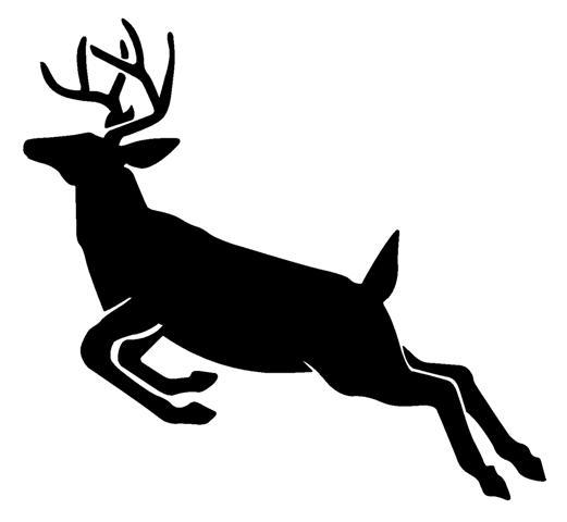 521x480 Deer Jumping Silhouette 2 Decal Sticker