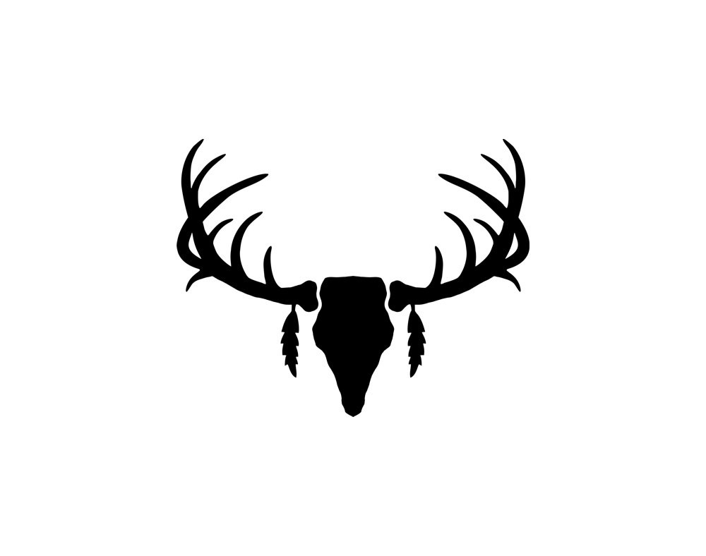 1000x788 Silhouette Vector Deer Antler Clipart Panda Free Images Showy