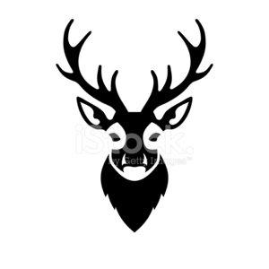 300x300 Deer Head Icon Vector Logo Stock Vectors