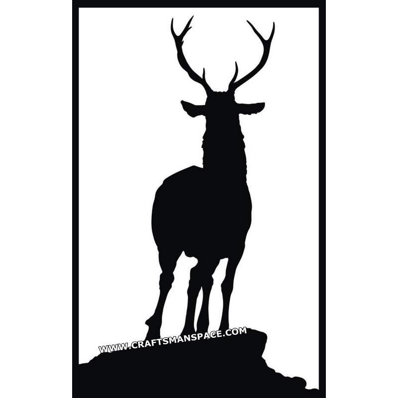 800x800 Deer Vector Silhouette