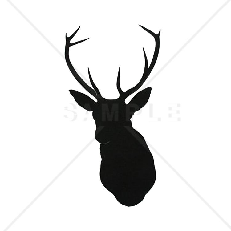 750x750 Printable Deer Head Pattern Deer Printable Silhouettes