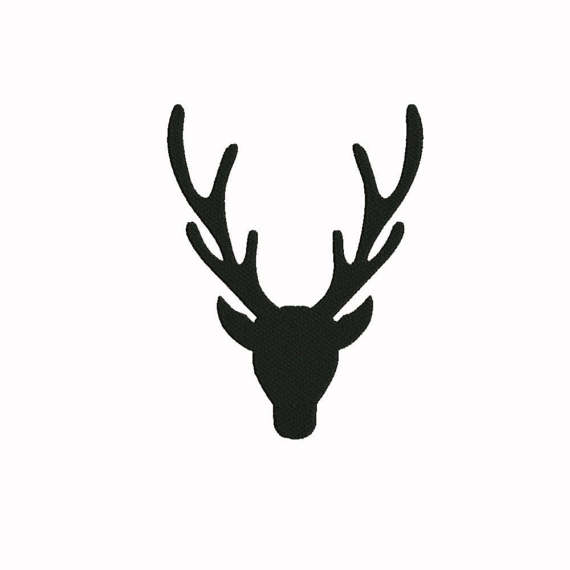 570x570 Buck Deer Silhouette Embroidery 7 Size Design Instant Download 8