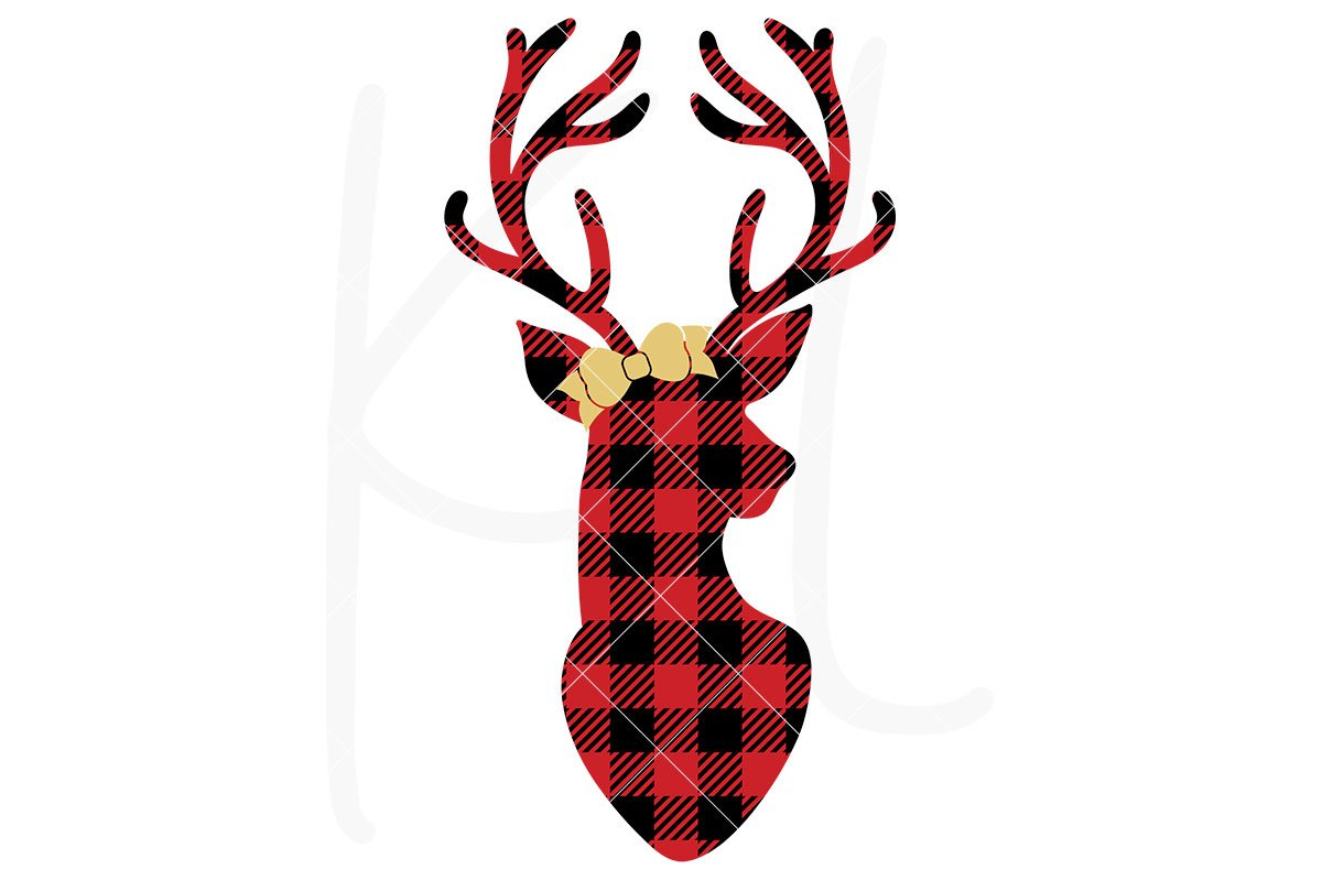 1200x799 Buffalo Plaid Deer Silhouette Svg File Kelly Lollar Designs
