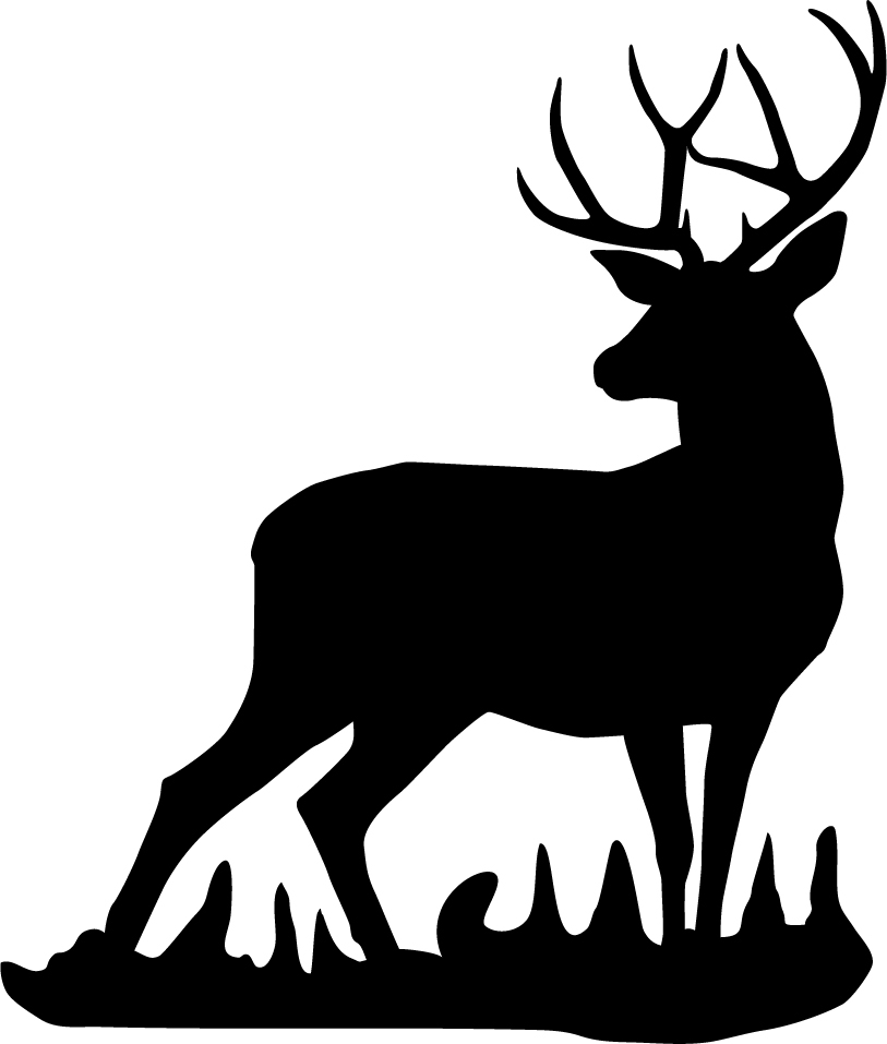 813x957 White Tailed Deer Clipart Deer Silhouette 4056435